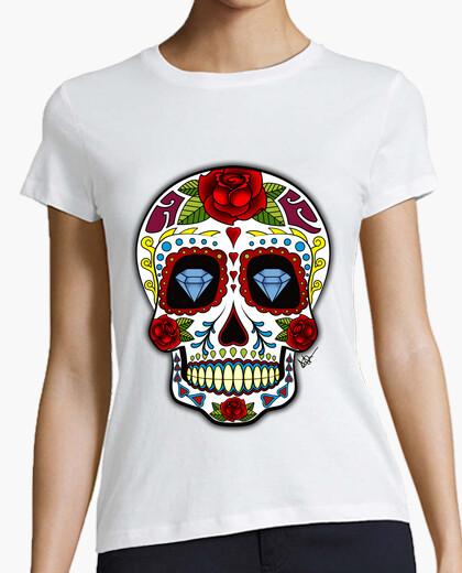 Tee-shirt diamant  tête de mort  mexicain !!!
