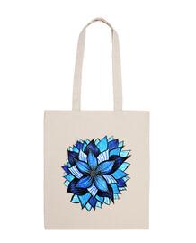 dibujo abstracto de la flor azul de la tinta