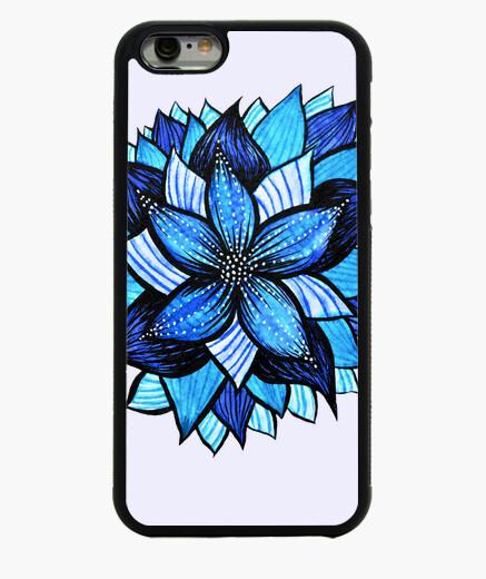 Funda iPhone 6 / 6S dibujo abstracto de la flor azul de la tinta
