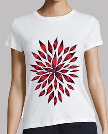 dibujo de doodle de flor roja abstracta