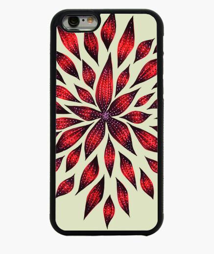 Funda iPhone 6 / 6S dibujo de doodle de flor roja abstracta