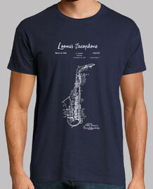 dibujo de patente de saxofón-1933-bluep