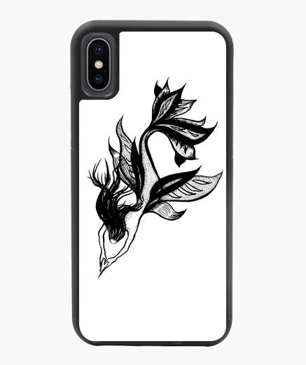 Funda iPhone X / XS dibujo de tinta hermosa sirena