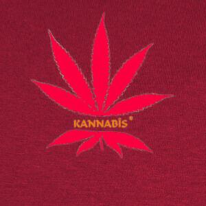 Tee-shirts dibujo nº 884135 logo de kannabis rojo