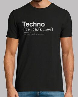 dictionnaire techno homme, manches courtes, noir, qualité extra