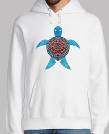 die blaue tribale Meeresschildkröte