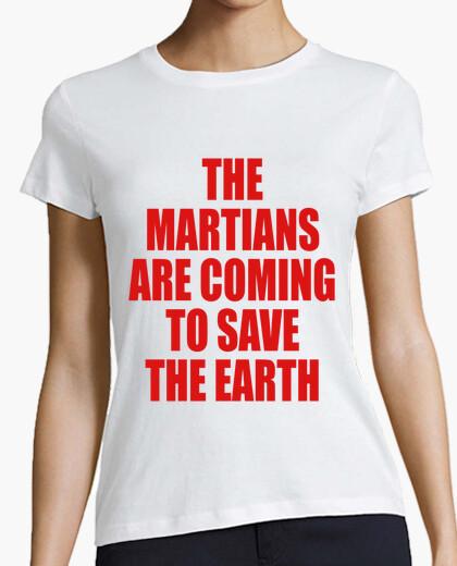 T-Shirt die marsianer kommen, um die erde zu retten