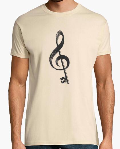 T-Shirt die musik ist der schlüssel