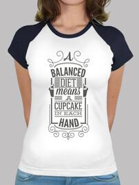 die t équilibré: cupcake dans chaque on