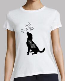 dieses Mädchen liebt Hunde - Haustiere