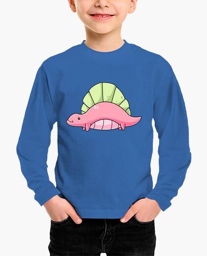 Ropa infantil Dimetrodon bebe kawaii camiseta para niños manga larga