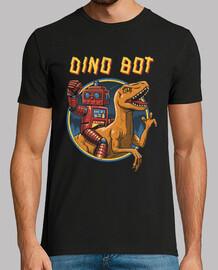 dino bot camiseta para hombre