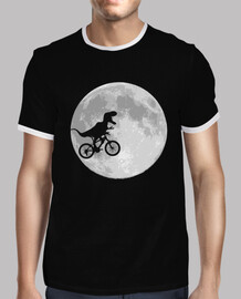dinosaure vélo and lune