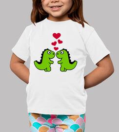 dinosaures coeurs rouges love