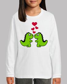 dinosaurio corazones rojos amor