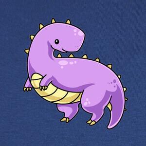 Camisetas Dinosaurio púrpura