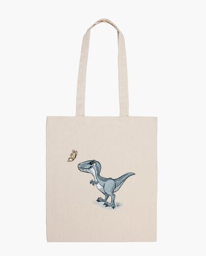 Borsa dinosauro blu