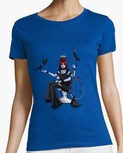 Camiseta Diosa hindú con dos pájaros