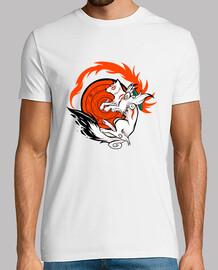 diosa lobo blanco camisa para hombre