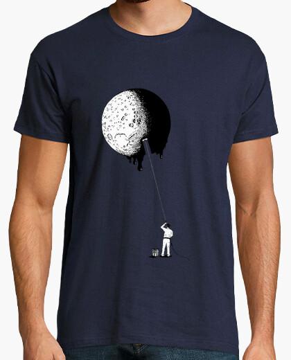 T-shirt dipingere la moon (h)