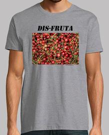 Dis-fruta. Cerezas. Texturas. Rojo.