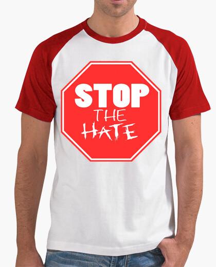 T-shirt discarica briscola - fermare l'odio