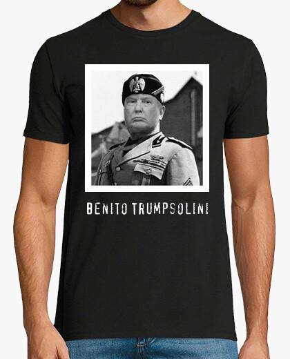 T-shirt discarica trump - benito trumpsolini