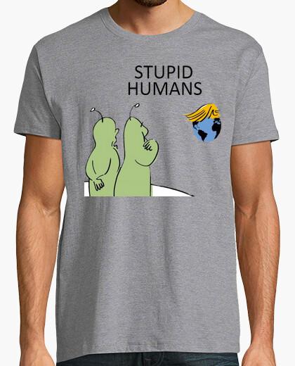 T-shirt discarica trump - gli esseri umani stupidi