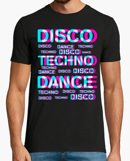 Tee-shirt disco dance techno
