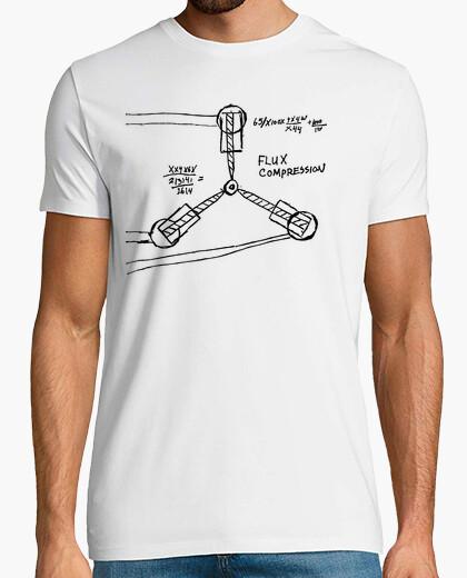 T-shirt Disegno Flusso Canalizzatore (Ritorno al Futuro)