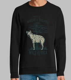 Diseño Animal Hiena Selva Retro África