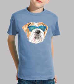 Diseño bulldog gafas sol