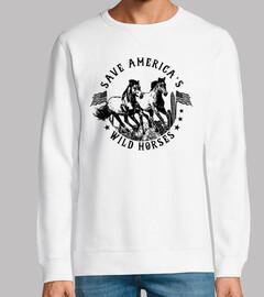 Diseño Caballos America Retro Vintage