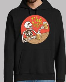 Diseño Calavera Esqueleto Bebiendo