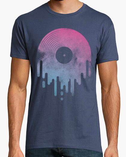 Camiseta Diseño Chorreante azul