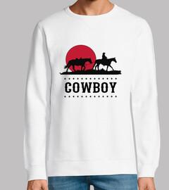 Diseño Cowboy Puesta de Sol Oeste