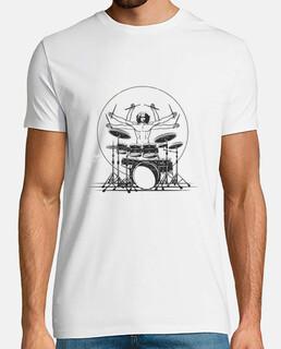diseño de baterista vitruviano
