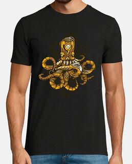diseño de pulpo steampunk