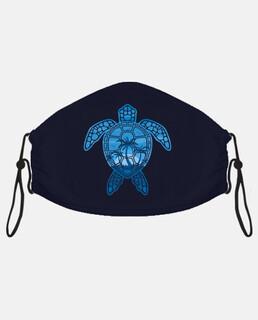 diseño de tortuga marina de isla tropical azul