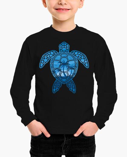 Ropa infantil diseño de tortuga marina de isla tropical en azul