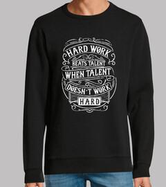 Diseño Hard Work Beats Talent Vintage