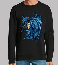 Diseño Lady Azul Woman Dibujo Arte