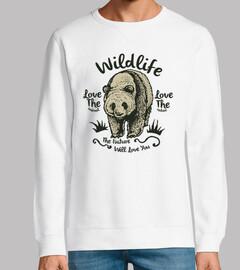 Diseño Oso Animales WildLife Retro