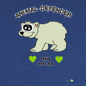 Camisetas Diseño Oso Polar - Animal Defender