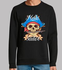 Diseño Pirata Calaveras Retro Capitán