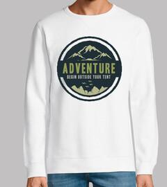 Diseño Retro Aventuras Montaña Vintage