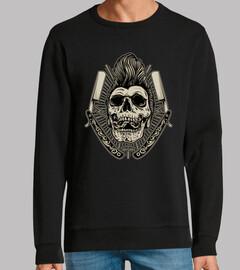Diseño Rockabilly Skull Vintage Rock