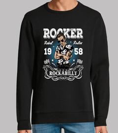 Diseño Rocker Rockabilly 1958 Retro