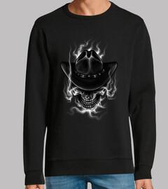 Diseño Skulls Cowboy Wild West Retro