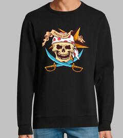 Diseño Tattoo Pirata Retro Océano Skull